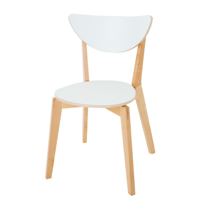 Nordic solid wood dining chair backrest computer chair modern minimalist adult home dining chair
