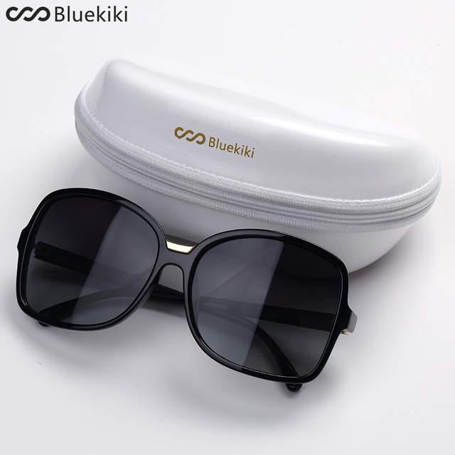 9acf905b096a8 KIKI Mulheres Óculos Polarizados Óculos de Sol Grande Rodada Oval Óculos de  Sol Retro Oversized Praça