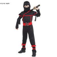Children Ninja Cosplay Boys Halloween Naruto Anime Costume Kids Japanese Warrior Purim Carnival Christmas Masquerade Party