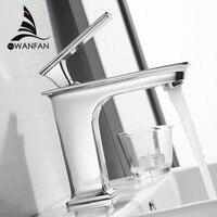 Basin Faucets Fashion Bathroom Mixer Tap Brass Washbasin Faucet Single Handle Single Hole Elegant Crane For Bathroom WF 9916