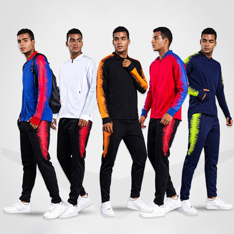 New 2019 Jogging Sports Clothing Men Soccer Training Jacket Pants Sports Suits Winter Wear Running Football Training Tracksuit