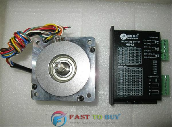 Affordable 2-phase DC 20-50V Stepper Drive + Motor Kits M542 + 86HS35 3.5Nm New 2 phase stepper motor and drive m542 86hs45 4 5n m new