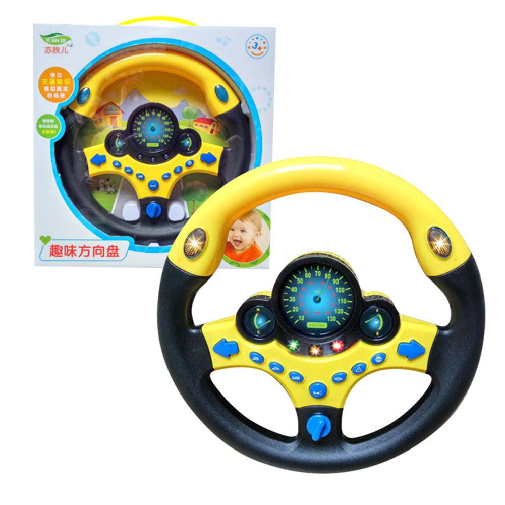 None Baby Musical Simulation Steering Wheel With Light Developing Educational Toys For Children Birthday