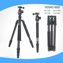 Professional Photographic Carbon Fiber Portable Photo Tripod Monopod camera stand Ball Head for Canon Nikon Sony