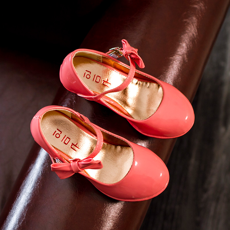 J.G Chen 2016 Spring Summer Girls Shoes PU Leather Cut outs