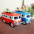 mini lovely classic collectible bus model car old car model toys for children with two color available red and blue kids gift