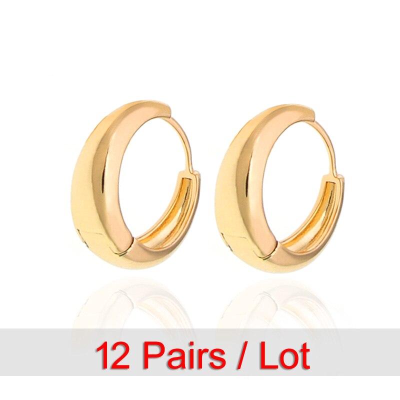 Gouden Oorbellen Voor Vrouwen Orecchini Donna Kupe E0204