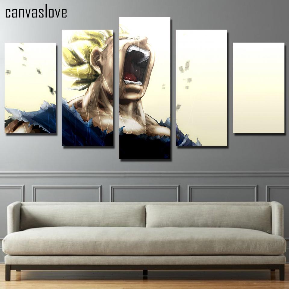 Vegeta Super Saiyan 5 Piece Canvas Wall Art
