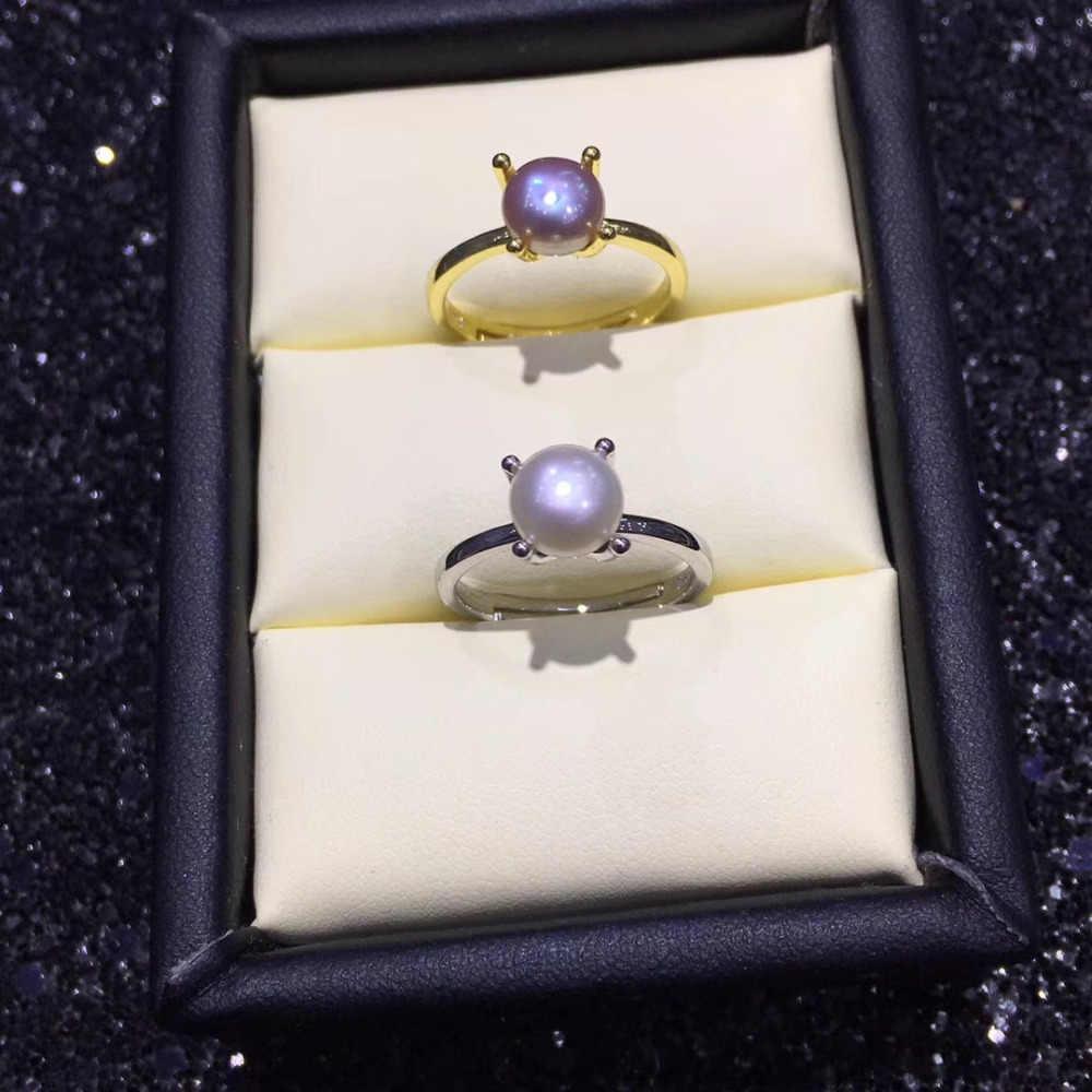 """Жемчуг бренда """"zhboruini"""" кольцо натуральный пресноводный жемчуг 925 Серебро хорошее качество Простота кольцо ювелирные изделия для женщин Прямая доставка"""