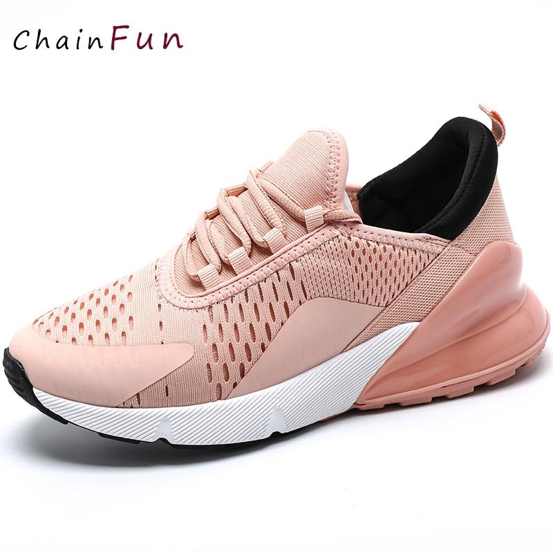 Baskets femme chaussures Chunky Tennis décontracté femme blanc noir et rose Tennis à semelles compensées femme piste baskets 2019