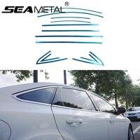 Stylizacja samochodu Pełne Okno Wykończenia Dekoracji Taśmy Ze Stali Nierdzewnej Dla Ford Focus 3 Sedan 2013 2014 Akcesoria Samochodowe OEM-12