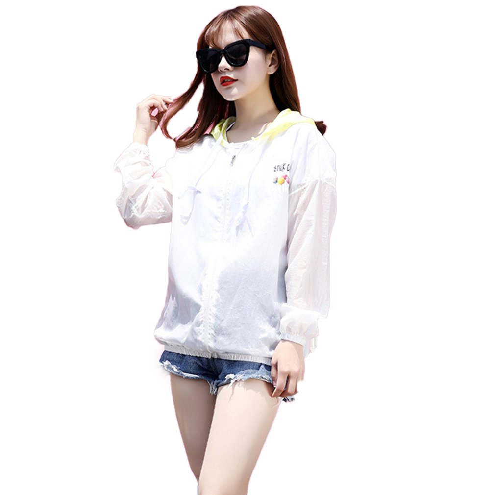 Korean Fashion Beach Holiday Anti-UV Women Long Sleeve Cardigan Summer Loose Style Ladies Travel Sunscreen Outwear Coats(China)