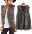New Women Faux Fur Vest Sleeveless Coat Peacock Feather Fur Vest Slim Waistcoat Special Slim Ladies Coats