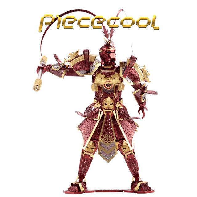 Piececool Metal 3D Rompecabezas El Rey Mono Wukong P076-RGS BRICOLAJE Corte Láser 3D Ensamblar Modelos de Juguetes Para la Auditoría