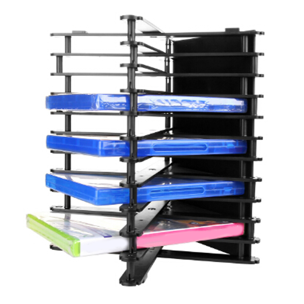 Folded Multi-angle Disc Storage Holder for DVD/CD/Blue-Ray discs storage for <font><b>PS4</b></font>/PS4slim/PS3/PS2/XBOX ONE S/XBOX360