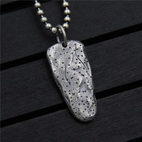 C&R Real 925 Sterling Silver Necklace Stone Age weapon pendant Thai silver retro personality men and women Fine Jewelry