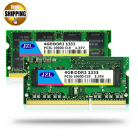 JZL 1.35V Low Voltage DDR3L 1333Mhz PC3 10600S 4GB / DDR3 PC3 10600 1333 1066 Mhz For Laptop Notebook SODIMM Ram Memory SDRAM