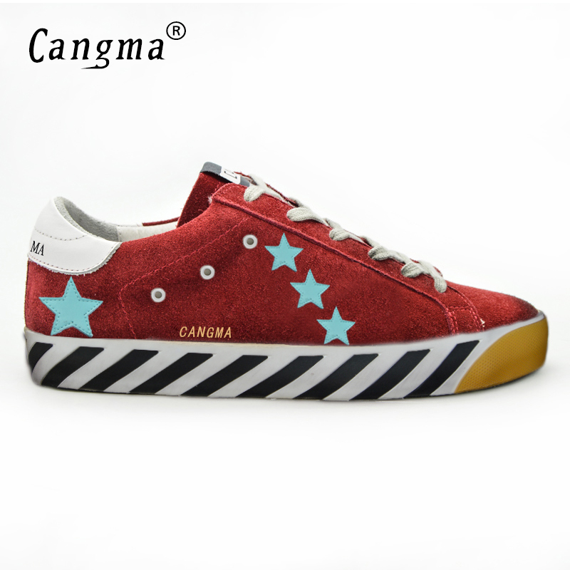 CANGMA Italy Deluxe Brand Men Superstar Shoes Luxury New Genuine Leather Male Casual Red Handmade Shoes Black Bottom Esportivo keyyou remote key case shell for peugeot 407 407 307 308 607 key cover 3 buttons flip key case with car symbol with logo