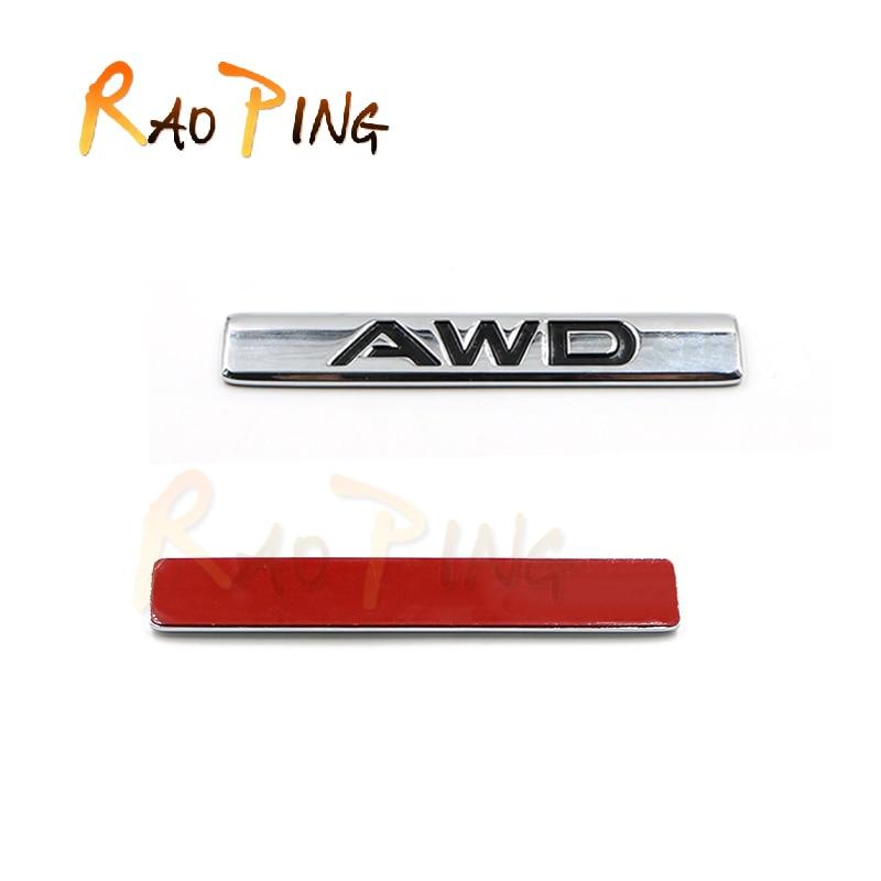 MAZDA Için Raoping CX-5 CX-4 AWD LOGO Sticker Kapı Oto Çıkartması Aksesuarları Araba Stil Su Geçirmez Paslanmaz Çelik Sticker 1 ADET