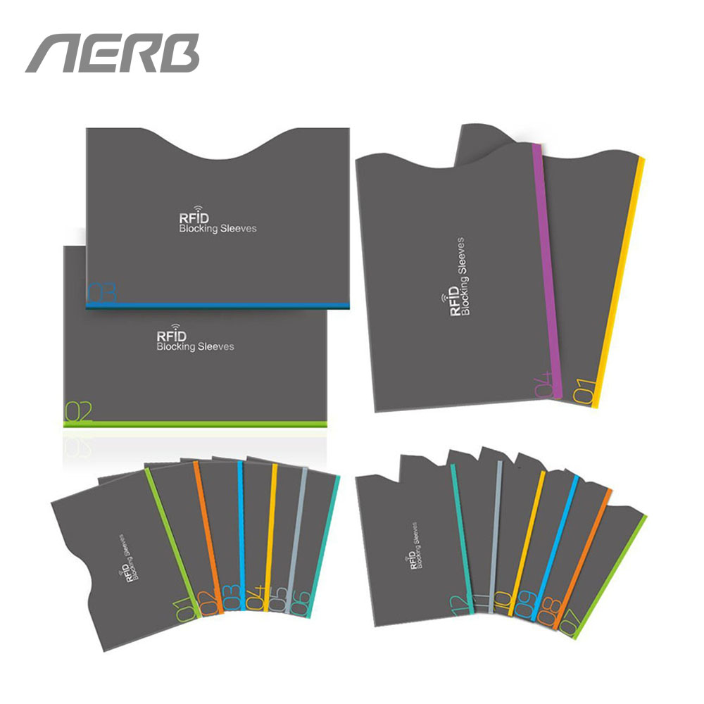 Aerb 16 Pieces/Set RFID Blocking Sleeves Anti Theft RFID Card Protector RFID Blocking Sl ...
