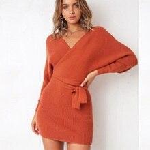 Dress for women new vestidos winter 2019 HOT Sexy dress bandage sweater sexy bag hip warm womens
