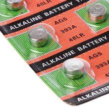10 шт. щелочная батарея Кнопка монета AG5 LR754 393 SR754 193 546 RW28 48 слуховой аппарат наушники часы батареи 95AD