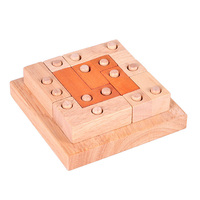 Rubber Wood Educational Learning Toys Fight Inserted Blocks IQ Brainteaser Burr Puzzle Games