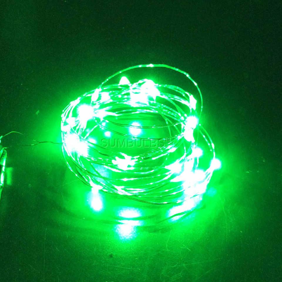 1 м 2 м 3 м 4 м 5 м 10 м Кнопка AA батарея USB управляемый светодиодный медный провод Сказочный светильник водонепроницаемый домашний праздничный декоративный светильник ing