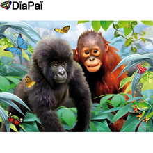 DIAPAI 5D DIY Diamond Painting 100% Full Square/Round Drill Animal monkey Embroidery Cross Stitch 3D Decor A21789