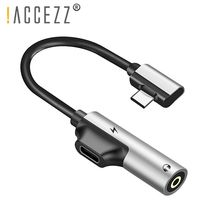 !ACCEZZ Type C Adapter 3.5mm Jack Earphone Charging Converter USB Audio Connector for Xiaomi 8 Huawei P10 Mate 20 Phone Type-C