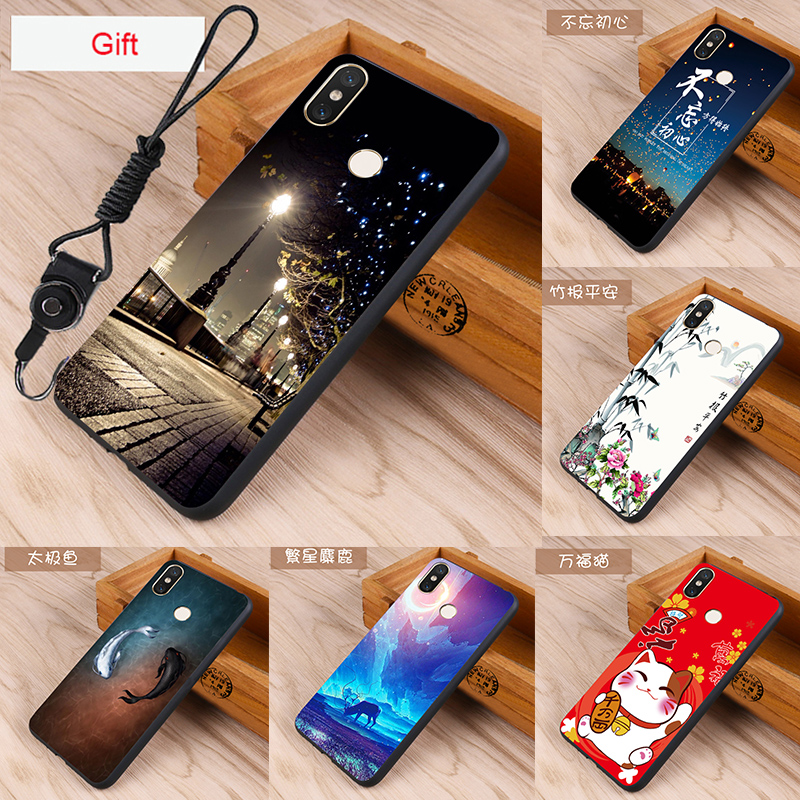 Case for Xiaomi Mi 8 Case Silicone Cover for Xiaomi Mi 8 Case Cover bag Skin Wolf Fish Skull xiaomi Mi 8 Fundas 100% BiNFUL