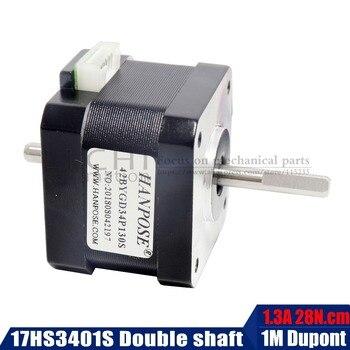 Nema 17 Stepper Motor 42 double shaft motor 42BYGH 1.3A (17HS3401S) two aixs motor 4-lead for 3D printer цена 2017