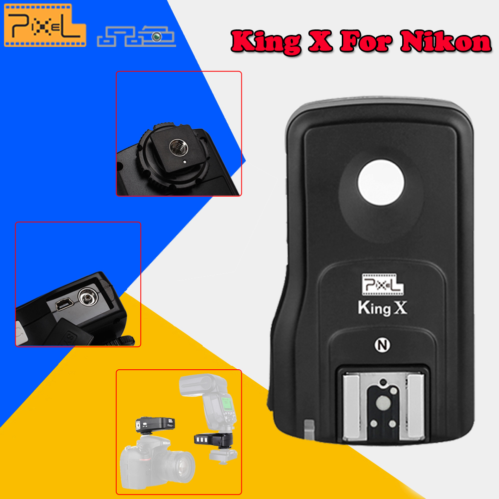 Pixel King X RX 2.4G TTL Wireless Flash Trigger Receiver High Speed Sync 1/8000S for Nikon D7000 D3100 D800 D600 D90 Dslr Camera монитор g sync
