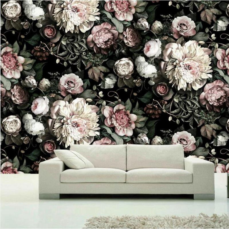 Custom Photo Wallpaper painting 3D white rose Flowers Wall Murals Living Room TV Sofa Backdrop Wall Paper Modern Home Decor Room book knowledge power channel creative 3d large mural wallpaper 3d bedroom living room tv backdrop painting wallpaper