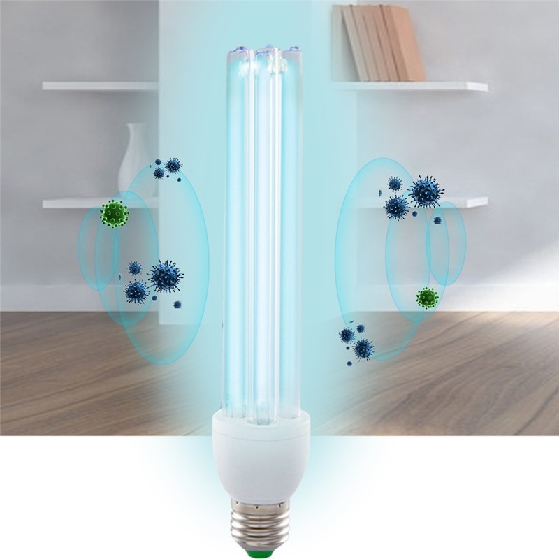 20W E27 UV Light Tube Bulb Ultraviolet Disinfection Lamp UVC Ozone Sterilization Mites Lights Germicidal