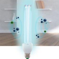 20 W E27 UV luz bombilla de tubo desinfección ultravioleta lámpara UVC ozono esterilización ácaros luces lámpara germicida