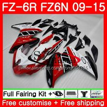 Bodys Para YAMAHA FZ6N FZ6 FZ6R 09 10 11 12 13 14 15 75MC. 3 Red preto branco FZ-6R FZ 6R 2009 2010 2011 2012 2013 2014 2015 Carenagens