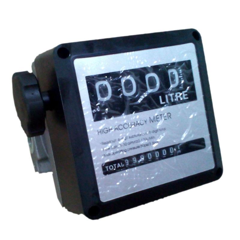 Water Flow Meter Sensor Flowmeter Fuel Gauge Caudalimetro Gasoline Diesel Fuel Oil Flow Indicator Counter G1. 0 4-digit 0-9999L