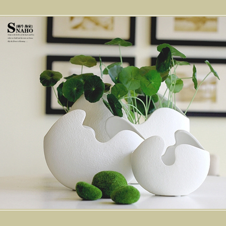 Scandinavian Minimalist Modern Artificial Flowers Pu Nisi White