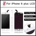 5 шт./лот Нет Dead Pixel для IPhone 6 Plus LCD 5.5 Дисплей С Сенсорным Экраном Дигитайзер Ассамблеи Замена Черный или Белый + Инструментов