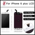 5 pçs/lote no dead pixel para iphone 6 plus 5.5 lcd display touch montagem digitador da tela de substituição preto ou branco + ferramenta