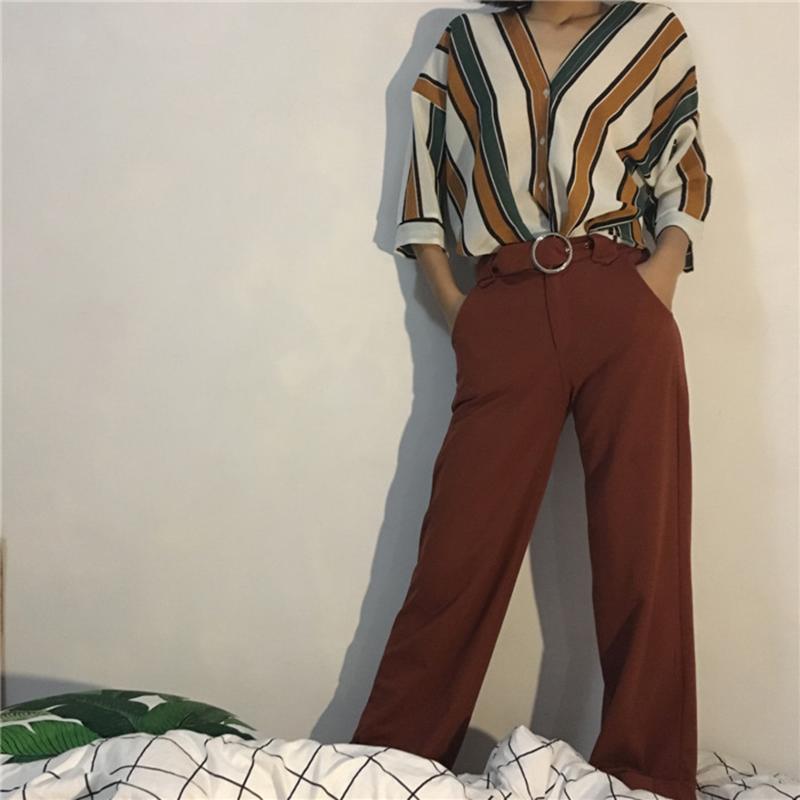 ldzhps 2017 новинка женщины блузки рабочая рубашка в полк свободный с V-бюстгальтер провода Top mod рубашка для женщин с ди Cherokee восстановить вершину исправлять