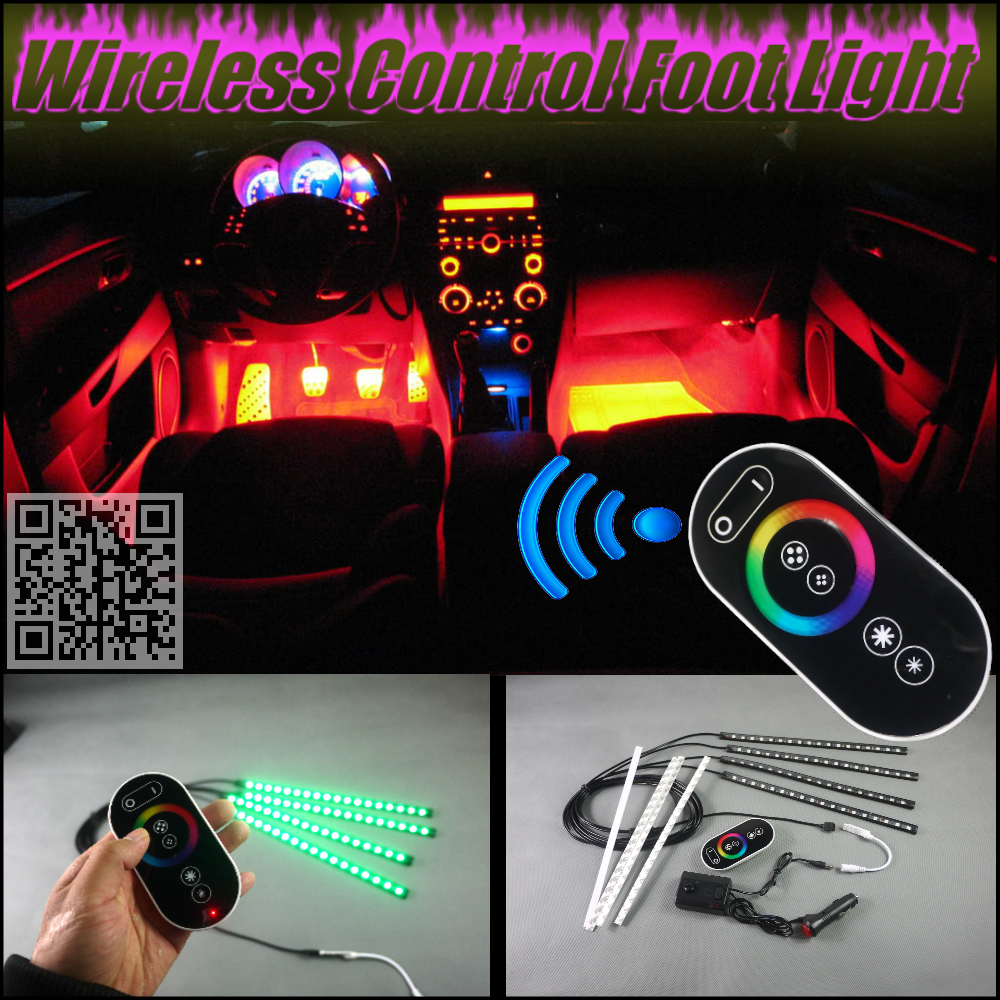 For All Car Digital Wireless Control Color Neon Glow Interior Under Dash Footwell Floor Decorative Atmosphere Seat Accent Light