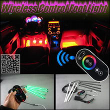 цена на For All Car Digital Wireless Control 360 Color Neon Glow Interior Under Dash Foot Floor Decorative Atmosphere Seat Accent Light