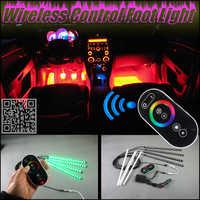 Tüm Araba için Dijital Kablosuz Kontrol Renkli Neon Glow İç Altında Ayak Zemin Dekoratif Atmosfer Koltuk Accent Işık