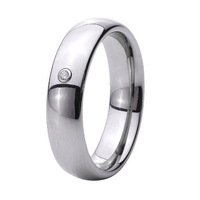 anel masculino Handmade Custom Tailor high Polished men CZ stone titanium ring one stone