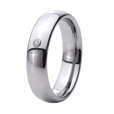 anel masculino Handmade Custom-Tailor high Polished men CZ stone titanium ring one stone moriarty s the good mother