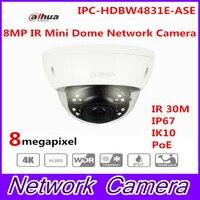 Оригинал Dahua английская версия IPC HDBW4831E ASE 8MP Poe ИК купольная сетевая камера видеонаблюдения IP камеры с IK10 IP67 MIC собран в