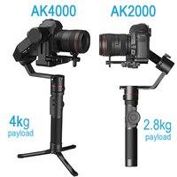 Feiyutech Feiyu AK4000 AK2000 3 оси DSLR Стабилизатор Следуйте Фокус Handhel видео Gimbal для sony Canon Panasonic фотокамеры Nikon