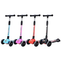 3 Wheels Children Scooters Foldable Mini Kickboard Exercise Toys Flashing Wheel Safety Foot Scooters Roller Skateboard